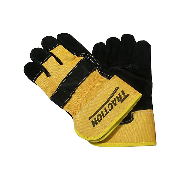 Traction - Split Cowhide Leather Traction Gloves - SCNSBA840