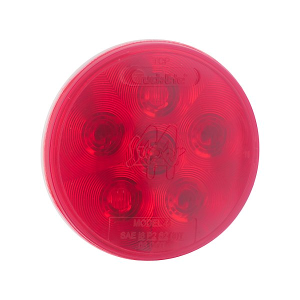 Truck-Lite - Super 44, LED, Red, Round, 6 Diode, Stop/Turn/Tail, Fit 'N Forget S.S., 12V - TRL44302R