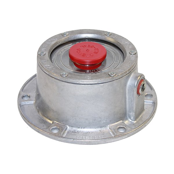 Stemco - Bulk Trailer Hub Cap with 3009 Gasket, No side fill plug, Aluminum - STM300-4009