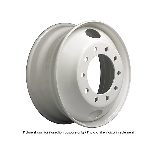 Accuride - Dual Steel White Wheel - 22.5 in. x 8.25 in. Hub Pilot w/ 2 Hand-Hole - ACC50308PKWHT21