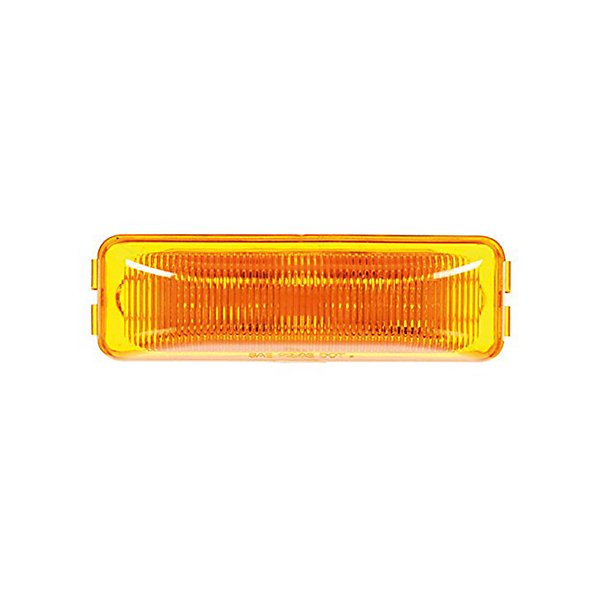 - Signal-Stat, LED, Yellow Rectangular, 4 Diode, Marker Clearance Light, P2, 19 Series Male Pin, 12V - TRL1960A