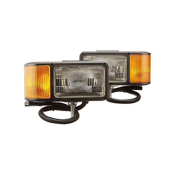 Truck-Lite - Universal, Halogen, 4 x 6 in. Rectangular, Snow Plow Light, 2 Bulb, Polycarbonate, 12V, Kit - TRL80800