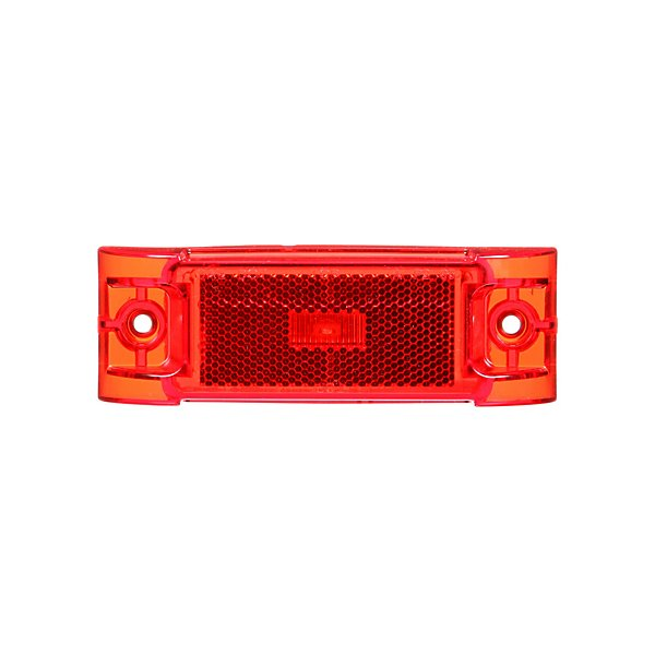 Truck-Lite - 21 Series, LED, Red Rectangular, 1 Diode, Marker Clearance Light, PC, 2 Screw, Reflectorized, Fit 'N Forget M/C, 12V - TRL21251R