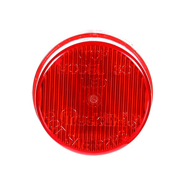 Truck-Lite - 30 Series, LED, Red Round, 2 Diode, Marker Clearance Light, P3, Fit 'N Forget M/C, 12V - TRL30250R
