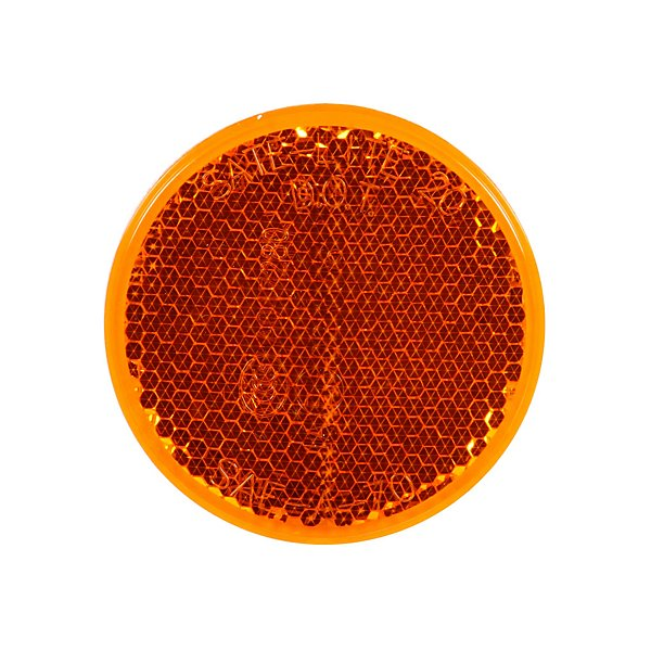 Truck-Lite - Signal-Stat, Round, Yellow, Reflector, Adhesive Mount - TRL45A