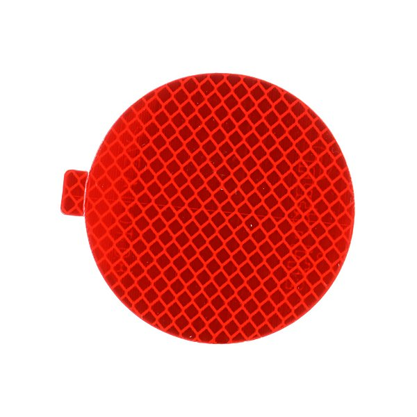 Truck-Lite - Retro-Reflective Tape, 3 in. Round, Red, Reflector, Adhesive Mount - TRL98175R