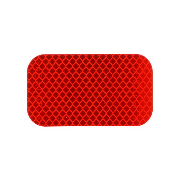 Truck-Lite - Retro-Reflective Tape, 2 ft. x 3-1/2 in. Rectangle, Red, Reflector, Adhesive Mount - TRL98176R