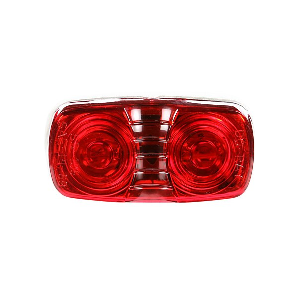Truck-Lite - Signal-Stat, Incandescent, Red Rectangular, 2 Bulb, Marker Clearance Light, P2, Bracket Mount, Hardwired, Blunt Cut, 12V - TRL1203