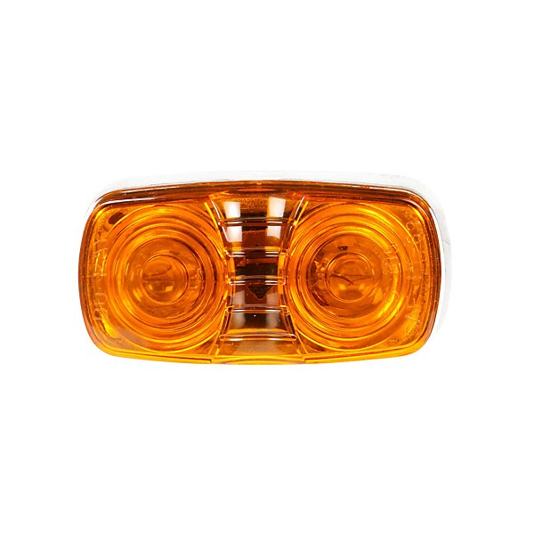 Truck-Lite - Signal-Stat, Incandescent, Yellow Rectangular, 2 Bulb, Marker Clearance Light, P2, Bracket Mount, Hardwired, Blunt Cut, 12V - TRL1203A