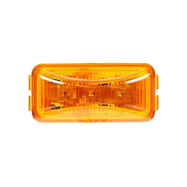 Truck-Lite - Signal-Stat, LED, Yellow Rectangular, 3 Diode, Marker Clearance Light, P2, PL-10, 12V - TRL1560A