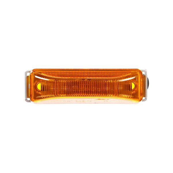 Truck-Lite - 19 Series, Base Mount, LED, Yellow Rectangular, 4 Diode, Marker Clearance Light, PC, Gray Polycarbonate Bracket Mount, Hardwired, Stripped End, 12V, Kit - TRL19006Y