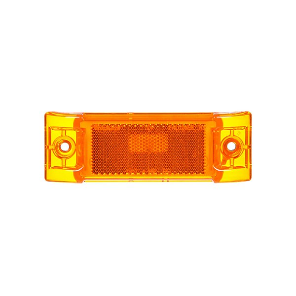 Truck-Lite - Super 21, Incandescent, Yellow Rectangular, 1 Bulb, Marker Clearance Light, P2, 2 Screw, Reflectorized, Super 21 Plug, Stripped End, 12V, Kit - TRL21002Y