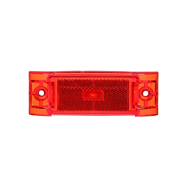 - 21 Series, LED, Red Rectangular, 1 Diode, Marker Clearance Light, PC, 2 Screw, Reflectorized, Fit 'N Forget M/C, .180 Bullet Terminal/Ring Terminal, 12V, Kit - TRL21051R