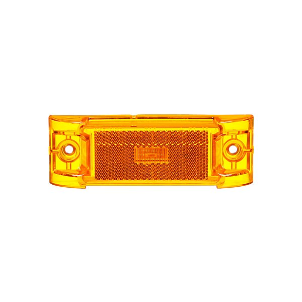 Truck-Lite - 21 Series, LED, Yellow Rectangular, 2 Diode, Marker Clearance Light, PC, 2 Screw, Reflectorized, Fit 'N Forget M/C, .180 Bullet Terminal/Ring Terminal, 12V, Kit - TRL21051Y