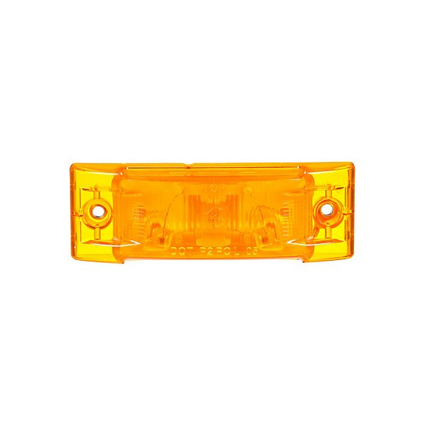 Truck-Lite - Super 21, Incandescent, Yellow Rectangular, 1 Bulb, Marker Clearance Light, PC, 2 Screw, Super 21 Plug, 12V - TRL21200Y