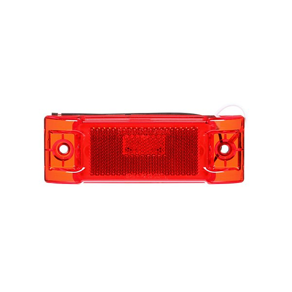 Truck-Lite - Signal-Stat, LED, Red Rectangular, 8 Diode, Marker Clearance Light, P2, 2 Screw, Reflectorized, Hardwired, Stripped End, 12V - TRL2150