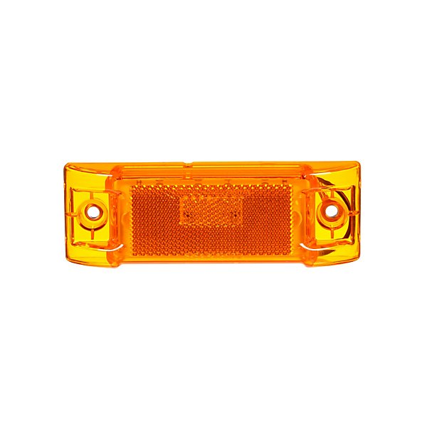 Truck-Lite - Signal-Stat, LED, Yellow Rectangular, 8 Diode, Marker Clearance Light, P2, 2 Screw, Reflectorized, Hardwired, Stripped End, 12V - TRL2150A