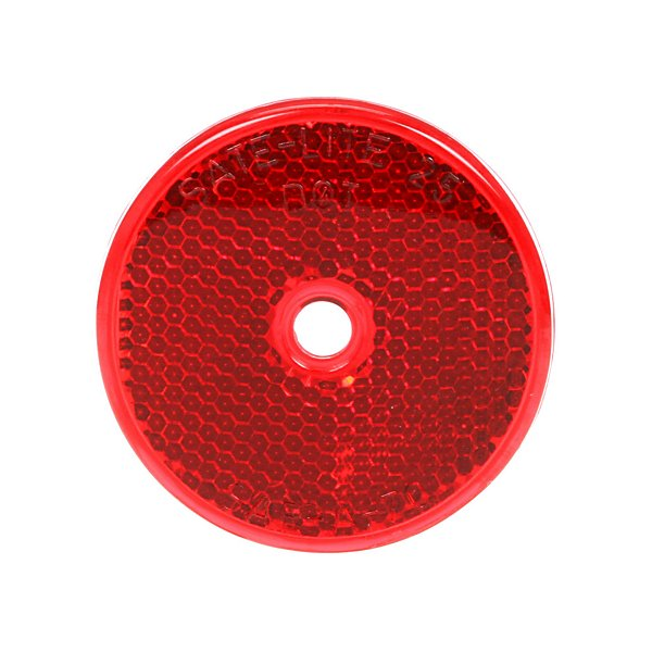 Truck-Lite - Signal-Stat, 2 in. Round, Red, Reflector, 1 Screw/Nail/Rivet - TRL52