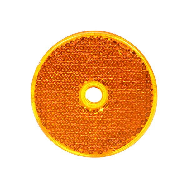 Truck-Lite - Signal-Stat, 2 in. Round, Yellow, Reflector, 1 Screw/Nail/Rivet - TRL52A