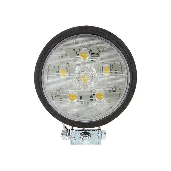 Truck-Lite - 81 Series, Par 36,4 In. Round LED Flood Light, Black, 6 Diode, 250 Lumen, Blunt Cut, 12V - TRL81260