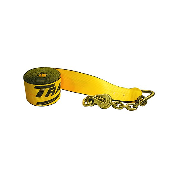 Traction - Traction 4 in. Winch Strap with 3705-3 Chain Anchor - 30 ft. - NKI423040-702622