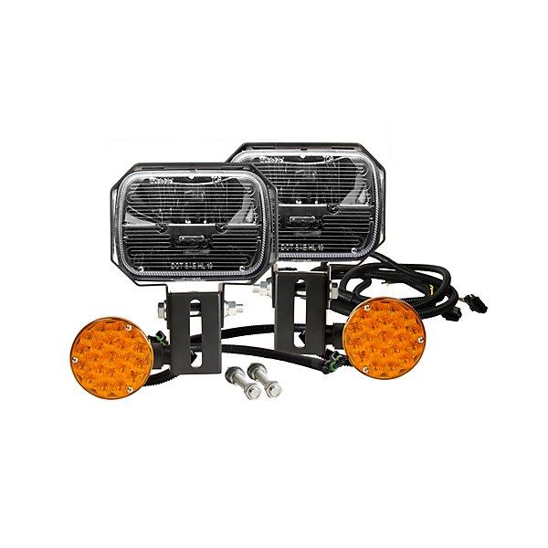 Truck-Lite - Phare de chasse-neige, lentilles chauffantes, 5 po x 7 po, polycarbonate, 12,8 V - TRL80985