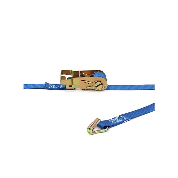 Kinedyne - 1 in. x 16 ft. Utility Ratchet Strap With Wire Hooks with a 835 lbs Working Load Limit - KIN712081PK