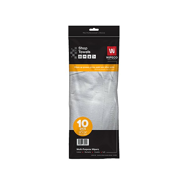Wipeco - Shop Towel White - CPNRSTW-10R