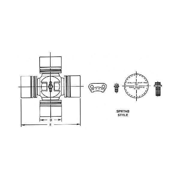 Spicer - Universal Joint - SPL250 Series - SPISPL250-3X