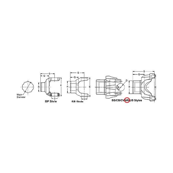 Spicer - 1810 B/S END YOKE - SPI6.5-4-4631-1