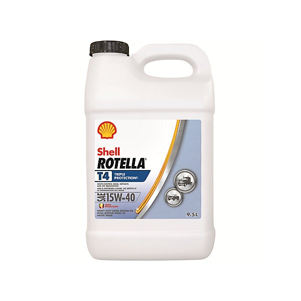 Shell - Rotella T4 Triple Protection 15W40 Motor Oil - 9.5 L - SHE550045125