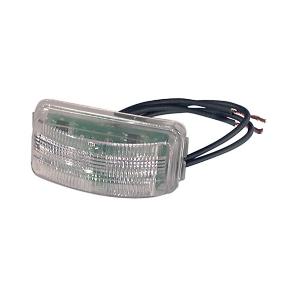 Truck-Lite - 15 Series, LED, 3 Diode, License Light, Rectangular, Bracket Mount, Hardwired, Female PL-10, 12V - TRL15205