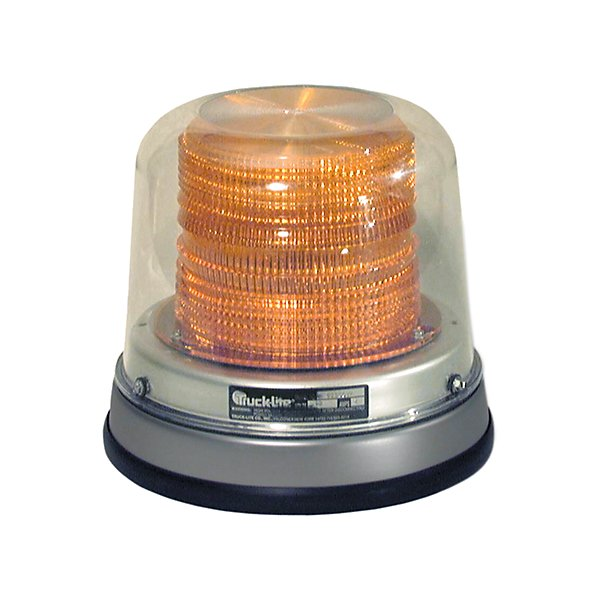 Truck-Lite - Gas Discharge, High Profile Beacon, Yellow, Permanent Mount, Class I, Hardwired, Stripped End, 12-24V - TRL92513Y