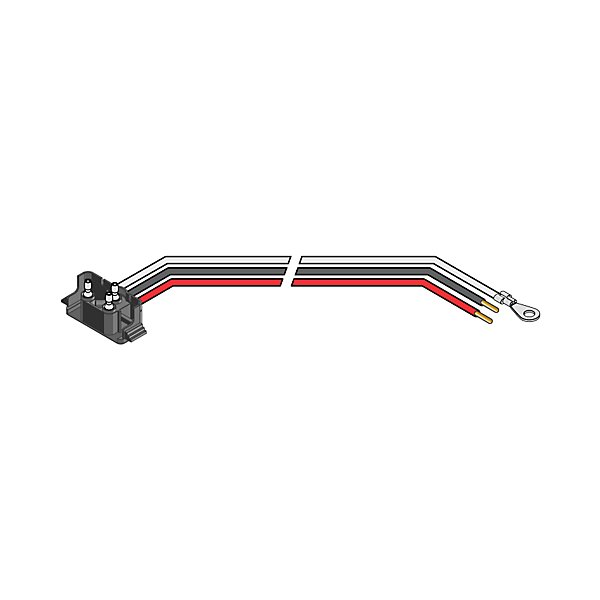 Truck-Lite - Stop/Turn/Tail Plug, 16 Gauge GPT Wire, Right Angle PL-3, Stripped End/Ring Terminal, 11 in. - TRL94993