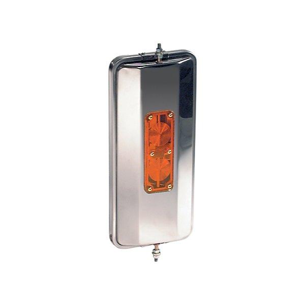 Truck-Lite - OEM Style, 7 x 16 in., West Coast Heated Mirror, Silver Stainless Steel - TRL97827