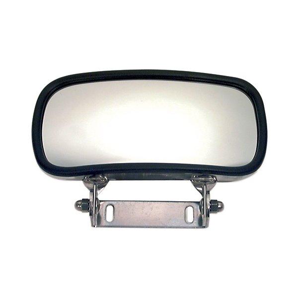 Truck-Lite - Over The Door, 4 x 8 in., Silver Stainless Steel Convex Mirror, Rectangular, Universal Mount - TRL97865