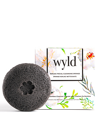 WYLD SKINCARE Charcoal Konjac Facial Cleansing Sponge H Project No Color