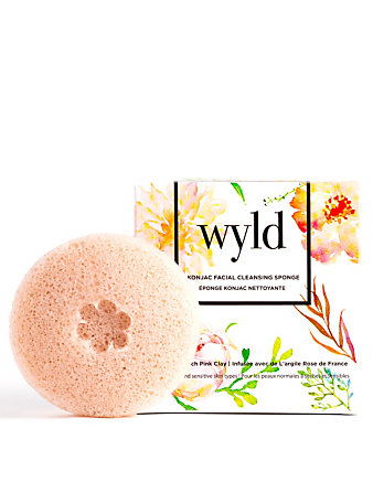 WYLD SKINCARE French Pink Clay Konjac Facial Cleansing Sponge H Project No Color