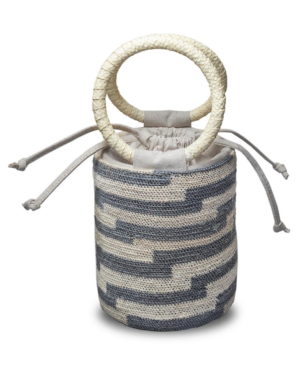 MOLA SASA Woven Maguey Cylinder Bag  H Project No Color