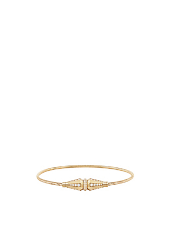 BOUCHERON Jack De Boucheron Gold Single Wrap Bracelet With Diamonds Women's Metallic