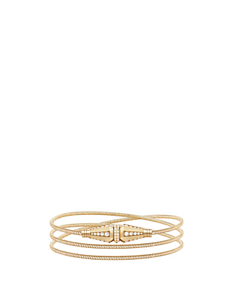 BOUCHERON Jack De Boucheron Gold Triple Wrap Bracelet With Diamonds Women's Metallic