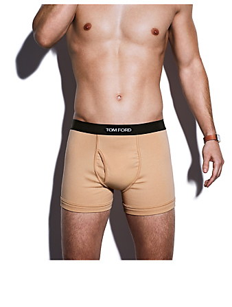 TOM FORD Cotton Stretch Jersey Boxer Briefs With Logo Men's Beige