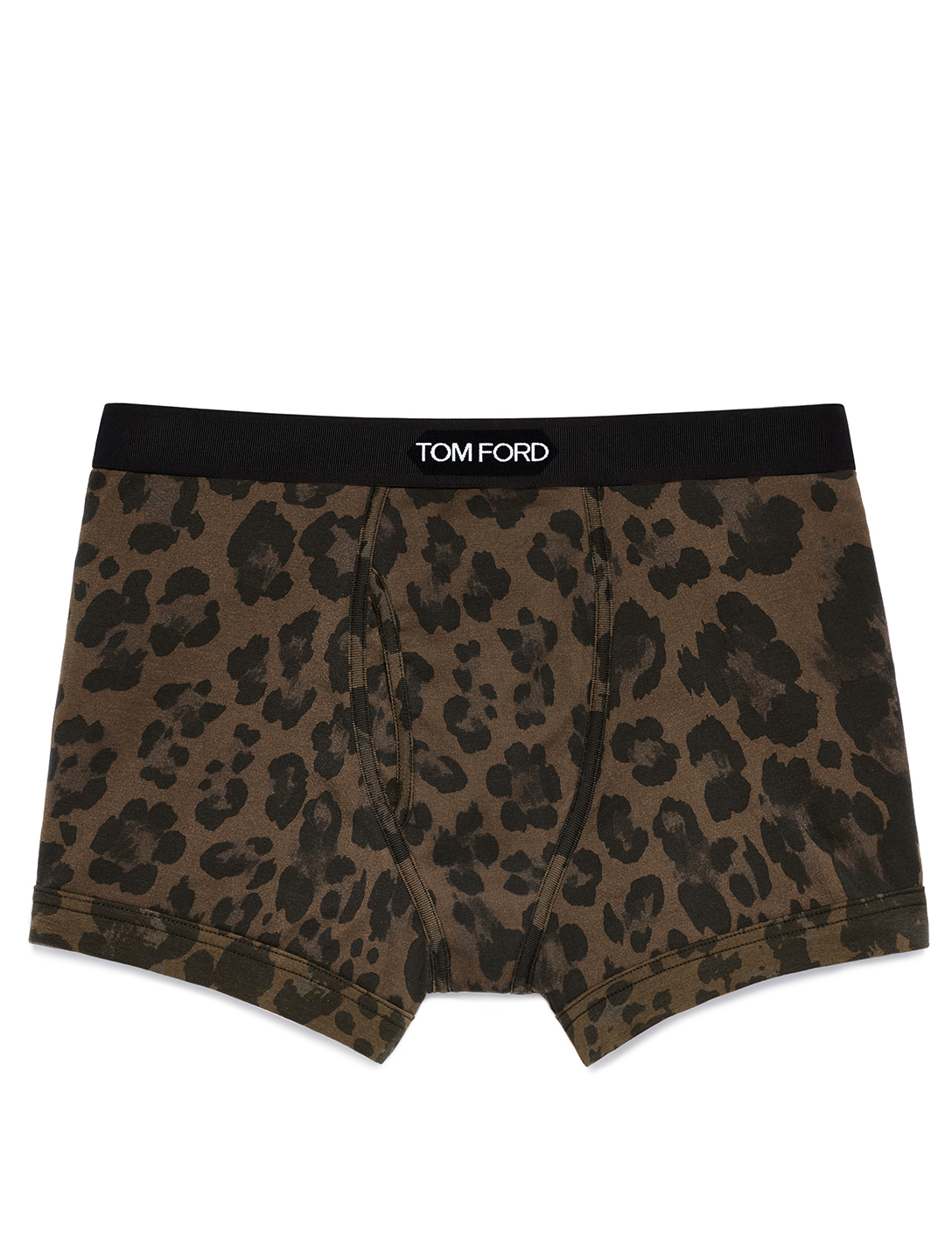 TOM FORD Printed Cotton Stretch Jersey Boxer Briefs With Logo Men's Brown