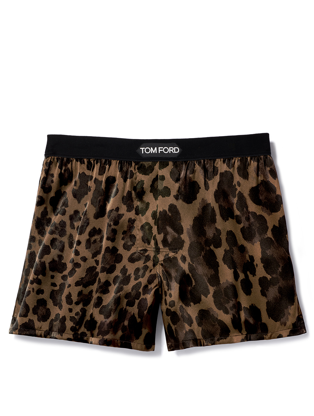 TOM FORD Printed Silk Short Boxers With Logo Men's Brown