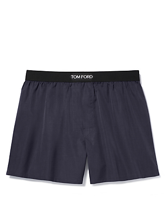 TOM FORD Cotton Boxers With Logo Men's Black