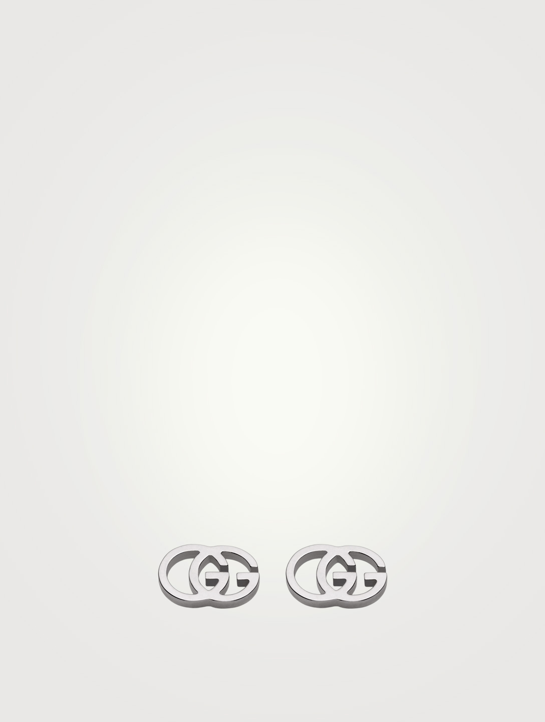 33ac471de4e GUCCI 18K White Gold GG Stud Earrings