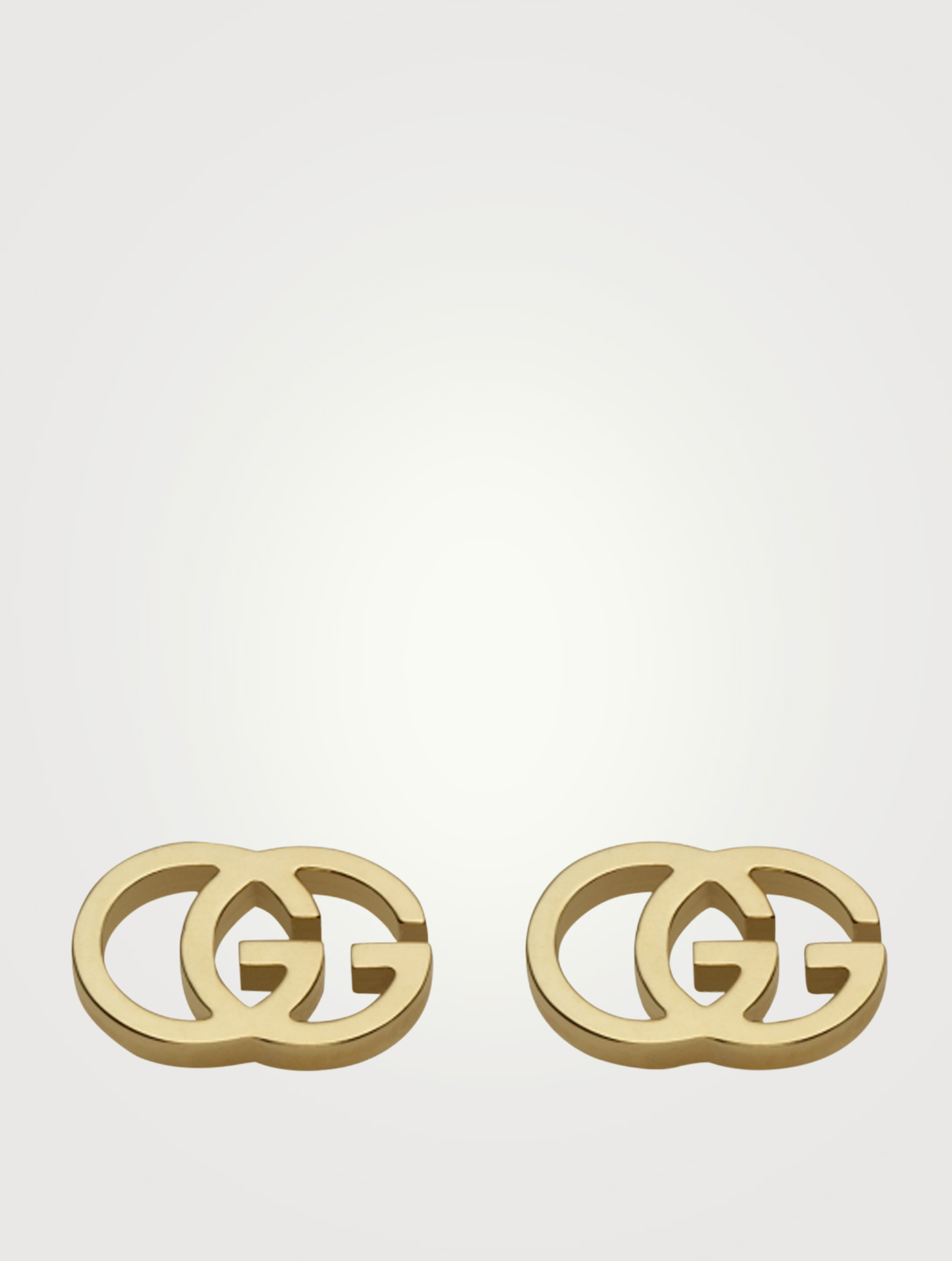 0c14b9d22ddd8 GUCCI GG Running 18K Gold Stud Earrings
