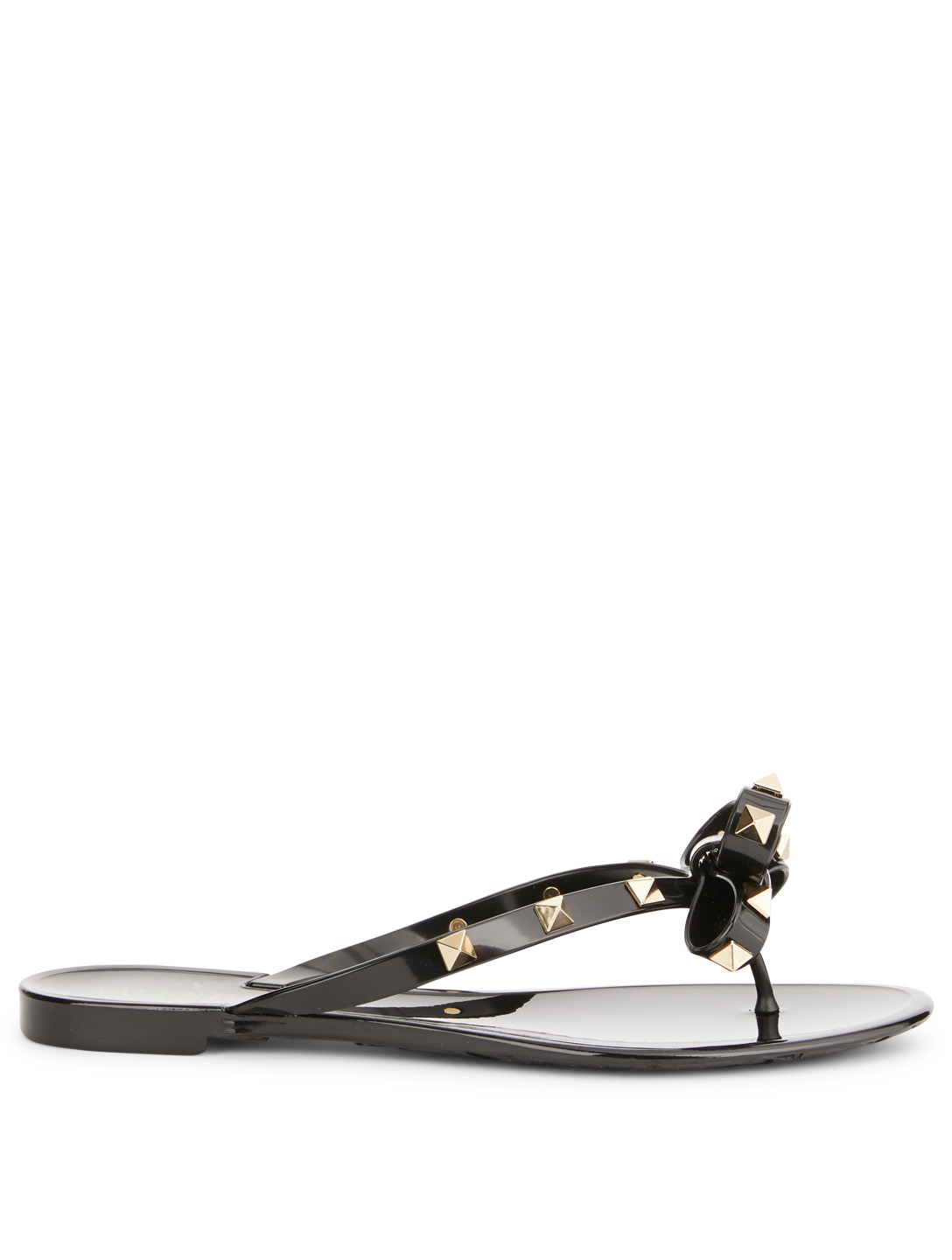 5ab4dea5159 VALENTINO Rockstud Jelly Thong Sandals Womens Black ...