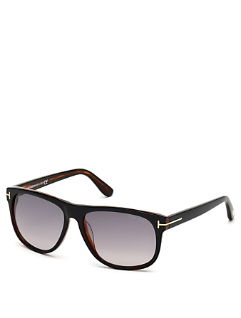 TOM FORD Olivier Square Sunglasses Men's Black
