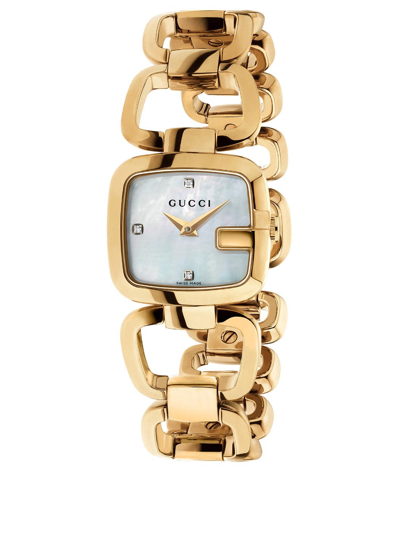 9250f2aad GUCCI G-Gucci Goldtone Bracelet Watch With Diamonds Women's Metallic ...